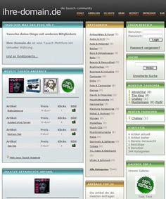 Eine Tauschbörse mit virtueller Währung. WebTausch ist eine Online-Tausch-Community. User können eigene Artikel zum Tausch anbieten und mit der virtuellen Tauschwährung (vEuro) Artikel von anderen Usern bestellen.  Ausgabe mit Demoserver.
