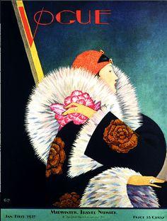 Art Deco Fashion Furs 1920's 30's Magazine Cover Art Poster Print SKU2503 | eBay