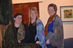Ann Taecker, artist with fellow artists Trisha and Tabatha Photo belongs to Tabatha Nentl