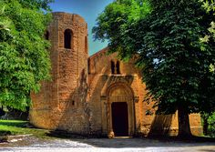 Pieve de Corsignano, Romanesque church in Pienza, Italy- interesting, ancient church on small road outside of town, easy walk down out of town walls from behind the papal palace and church.