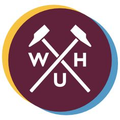 A more modern West Ham logo, based on the traditional crossed hammers.