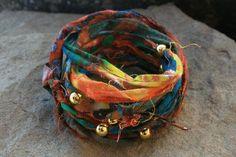 Tie Dye Fabric Wrap Bracelet