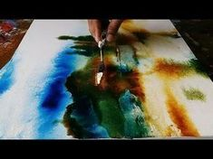 Abstract painting / Demonstration of abstract painting in Acrylics / Easy blending - YouTube