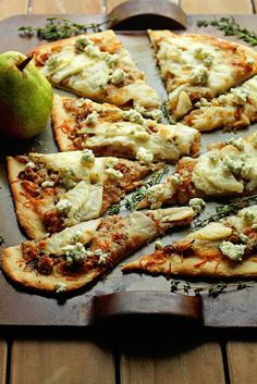 Caramelized Onion and Pear Flatbread | Grandbaby Cakes