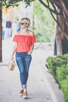 EARRINGS » TOP » JEANS (on sale!) » WEDGES » PURSE (sold out but keep checking, they always restock) We are in the home stretch! My kids have 5 days of school left and we are ALL doing the happy dance… well most of us, it's a little bittersweet for this mama. I love not having a …