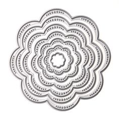 7Pcs/Set Flower Circles Metal Cutting Dies Stencils DIY Scrapbook Embossing Album Paper Card Craft