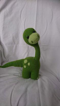 Crochet Dinosaur Pattern Free, Crochet Animal Patterns, Stuffed Animal Patterns, Crochet Patterns Amigurumi, Crochet Animals, Stuffed Animals, Cute Crochet, Crochet Baby, Beautiful Crochet