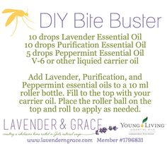 Soothe your skin after hiking, camping, etc with this DIY Bite buster roll-on using Young Living essential oils. www.lavenderngrace.com
