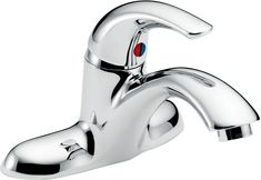 Delta 22C121 Single Handle 1.5GPM Bathroom Faucet with Antimicrobial by AgION an Chrome Faucet Lavatory Single Handle