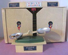 1950s Kaybot GOLLY Golliwog Doll House Grocery STORE Lyon Tea Peek Biscuit Tin