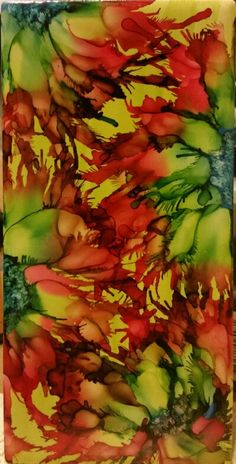 Flower in alcohol ink by tina