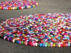 wool ball rug