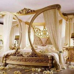 Romantic Canopy Bed Ideas antique louis xv carving bed/solidwood carving kingsize bed/canopy