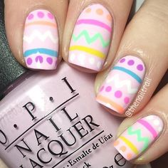 Easter Eggs on the Nails Design