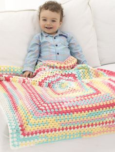 Image of Happy Colors Baby Afghan
