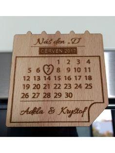 Svatební magnetka - kalendář