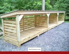 Garage Shelving Woodworking Plans and PICS of Gambrel Barn Style Shed Plans. Garage Shelving Woodworking Plans and PICS of Gambrel Barn Style Shed Plans. Wooden Storage Sheds, Diy Storage Shed Plans, Wood Shed Plans, 8x8 Shed, Barn Style Shed, Firewood Shed, Firewood Storage, Shed Construction, Wooden Pallet Projects