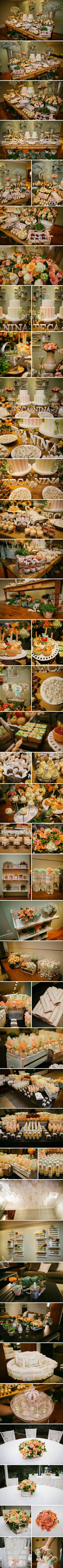 An elegant country candy bar Dessert Buffet, Dessert Bars, Food Buffet, Dessert Tables, Candy Table, Candy Buffet, Bar A Bonbon, Elegant Table Settings, Festa Party