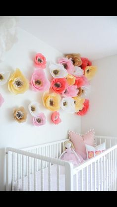 Paper flowers for Scarlet's room
