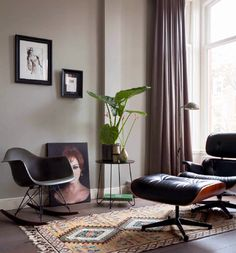 Eames Living Spaces, Living Room, Rustic Industrial, Industrial Living, Eames, Dining Bench, Sweet Home, Upholstery, House Design