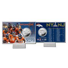 Denver #Broncos Super Bowl 48 Silver Flip Coin Card. Click to order! - $24.99