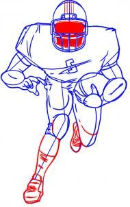 How To Draw A Football Player Sketchbook Challenge 47 Drew Sport