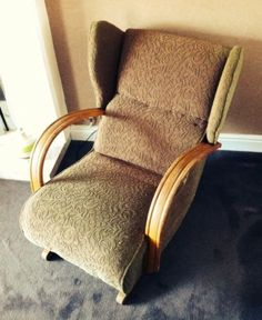 1930u0027s Art Deco #wooden Low #recliner Easy Arm #chair , View More On The  LINK: Http://www.zeppy.io/product/gb/2/322373483258/ | Art Deco | Pinterest  | Art ...