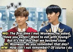 Wonwoo and Mingyu gif
