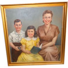 The American Nuclear Family ~Unusual Oil Portrait from deadpeoplesthings on Ruby…