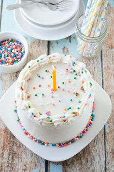 Vegan Vanilla Birthday Cake #vegan #vanilla #birthday #cake