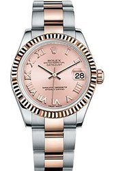 Rolex Lady Datejust 31 Steel Rose Gold watch Pink dial This is a Never Worn Timepiece that still has the factory original protective plastics on the case and comes with the Original Box and Papers. Rolex Shop, Buy Rolex, 18k Gold Jewelry, High Jewelry, Rolex Watches, Watches For Men, Female Watches, Analog Watches, Luxury Watches