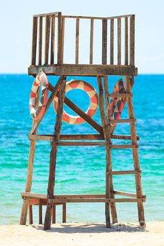 Lifeguard tower, this is where Mike and I would always go sit when we were dating...<3 We would also go sit there at night and bring all the stuff to make banana splits!