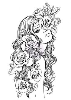 Adult Coloring Book People New 775 Best Beautiful Women Coloring Pages for Adults Images – Colorir. Printable Adult Coloring Pages, Coloring Pages To Print, Coloring Books, Colouring Pages For Adults, Coloring Pages For Grown Ups, Art Sketches, Art Drawings, Colorful Drawings, Fairy Coloring