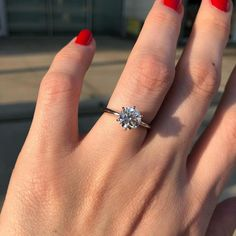 This platinum six-prong solitaire by Blue Nile is the ultimate classic engagement ring style. Crafted to showcase your choice of … Elegant Engagement Rings, Platinum Engagement Rings, Engagement Ring Styles, Antique Engagement Rings, Platinum Ring, Round Solitaire Engagement Ring, Solitaire Diamond, Elegant Wedding Rings, Vintage Engagement Rings