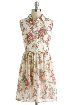 Rose-Scented Letters Dress, #ModCloth