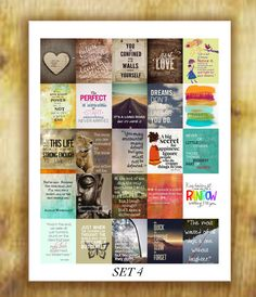 Inspirational Quotes Stickers Set 4 for Erin by RemanDesignStudio
