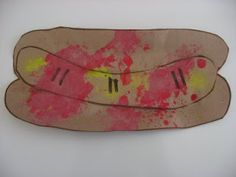 Hot Dog Craft - Sponge Activity for Hot Diggity Dog day?