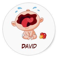 Crying Baby Sticker - Dec 5
