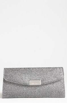 Jimmy Choo 'Riane' Glitter Lamé Clutch available at #Nordstrom