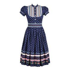 Wally Kleid Kornblume - What´s New - Lena Hoschek Online Shop Best African Dresses, African Traditional Dresses, African Fashion Dresses, Traditional Outfits, Moda Professor, Skirt Fashion, Fashion Outfits, Folk Fashion, African Print Fashion