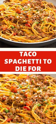 INGREDIENTS: 1 tablespoon olive oil 1 pound ground beef* 1 package taco seasoning 1 can) Ro*Tel® Mild Diced Tomatoes & Green Chilies. Casserole Recipes, Pasta Recipes, Chicken Recipes, Dinner Recipes, Cooking Recipes, Chicken Meals, Spaghetti Recipes, Beef Recipes, Yummy Recipes