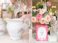 Romantic Pink Table Design and Centerpiece :: Invitation by Ceci New York :: Designed by Weddings by Trista with Flowers by Carolyn Valenti Flowers :: Michelle Girard Photography