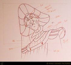 """I love the raw clean-up Drawings in animation such as this one of Frollo from """"The Hunchback of Notre Dame Disney Pixar, Disney Villains, Disney Animation, Disney Art, Disney Characters, Frollo Disney, Character Design Disney, 3d Character, Notre Dame Disney"""