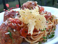 Spaghetti and Rigali Meatballs aka Tauntaun Guts with Starkillers Recipe #StarWars #food #recipe #italian