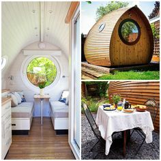 If you're into tiny house living too when vacationing you might consider staying in a micro cabin like this garden pod instead of in a motel. Many times you can also save money doing this, as…