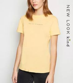 Shop Pale Yellow Ray of Sunshine Slogan T-Shirt. Discover the latest trends at New Look. White Tops, Black Tops, White Cosmo, White Flamingo, Prince Purple Rain, Lace Print, Rock T Shirts, Slogan, New Look