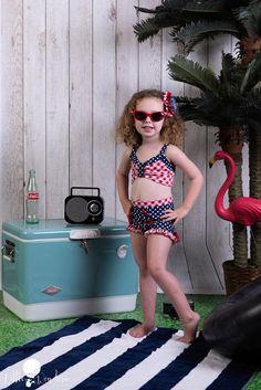 Newmao Toddler Girls Swimsuit Halter Butterfly Ruched Ruffles Bikini Two Piece Swimwear Set