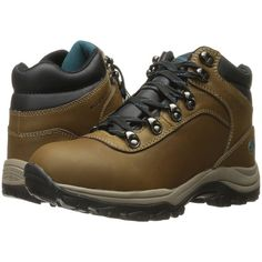 Northside Apex Lite Waterproof (Medium Brown/Teal) Women's Hiking... ($45) ❤ liked on Polyvore featuring shoes, brown, synthetic hiking boots, waterproof footwear, teal blue shoes, teal shoes and northside