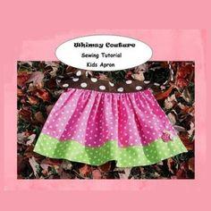 Free Kids Apron PDF Sewing Pattern Nb-12 Girls   Sewing Patterns   YouCanMakeThis.com
