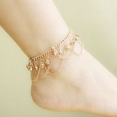 Item Type: Anklets Metals Type: Zinc Alloy, Gold Plated Length: 21cm